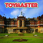 Toymaster Logo and the Barcelo Majestic Hotel in Harrogate