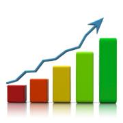 Graph showing upward trend
