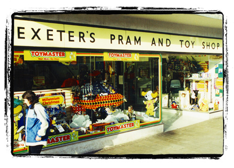 Exeter's Pram and Toy Shop during the 90s